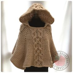 Milena Twist Cable Hooded Poncho Crochet Pattern