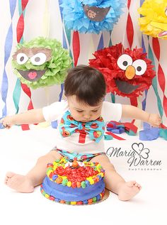 When this Mom contacted me to do a Elmo inspired Cake Smash Session