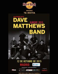 No te puedes perder la oportunidad de asistir al concierto de Dave Matthews Band el próximo 12/10 en el Barclaycard Center  *Pregunta a tu camarero por esta promoción, valido hasta 15/08 al 15/09 solo en Hard Rock Cafe Madrid