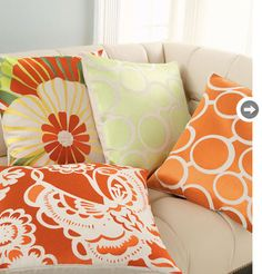 Totally my color scheme...  I have a thing for orange in my living room.