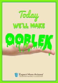 Ooblek is a scientific wonder, with the properties of both a solid and a fluid! Click the image to watch a video teaching you how to make your own ooblek at home. #TodayInAZ #STEM