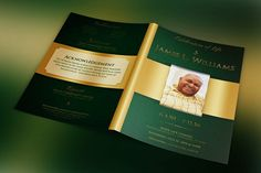 Page Funeral Booklet TemplateV By Graphicsauthor