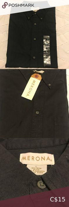 Men's Casual Dress Shirt Merona Men's dress shirt. New with tags. Charcoal colour with green undertones. 100% cotton. Comes from a smoke free household. Bundle 2+ items, save 10% and only pay one shipping fee 🥳 Merona Shirts Casual Button Down Shirts Casual Shirts For Men, Casual Button Down Shirts, Button Up Shirts, Charcoal Colour, Calvin Klein Men, Mens Xl, Flannel Shirt, Dress Shirt, Household