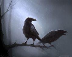 Odin& Ravens: As the Crow Flies The Crow, The Raven, Raven Art, Tattoo Vieja Escuela, Spooky Music, Tattoo Band, Flora Und Fauna, Crow Art, Raven Tattoo