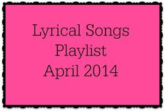 There are quite a few new releases on this week's lyrical songs playlist! Love when that happens. As always, new releases are noted with an *. Enjoy!  Lyrical Songs Listen to Playlist in...