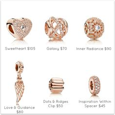 >>>Pandora Jewelry OFF! >>>Visit>> PANDORA Rose charms are fall essentials. Pandora Charms Rose Gold, Pandora Beads, Pandora Bracelets, Pandora Jewelry, Charm Jewelry, Beaded Bracelets, Charm Bracelets, Jewelry Drawing, Delicate Jewelry