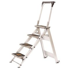 Little Giant Ladder Systems 4 ft. Safety Aluminum Step Ladder with Bar 300 lb. Load Capacity Type IA Duty Rating-10410BA - The Home Depot