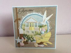 SUMMER BEACH HUT DIE CUTS FOR CARD TOPPERS