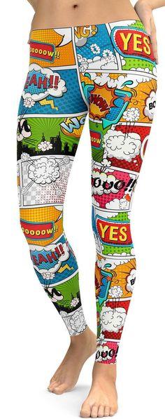 Comic Book Super Hero Leggings