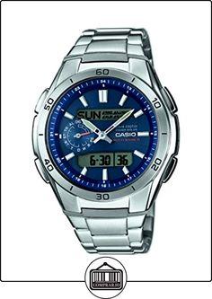 CASIO WVA-M650D-2AER - Reloj analógico y digital de cuarzo con correa de acero inoxidable para hombre, color plateado de  ✿ Relojes para hombre - (Gama media/alta) ✿
