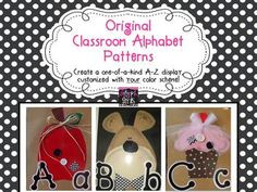 After many, many requests, we've finally finished the Alphabet patterns! Create your own beautiful, hand-cut Alphabet Display with these 26 patterns from the Glyph Girls. Use colors to compliment your classroom and add embellishments of your choosing to create a one-of-a-kind A-Z Display that will last for years.