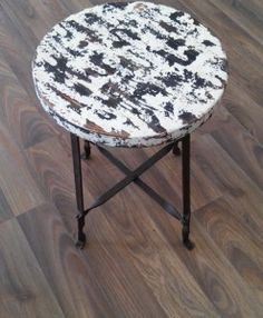 Hocker Eisen Holz Stool, Furniture, Home Decor, Stools, Wood, Homes, Ideas, Other, Homemade Home Decor
