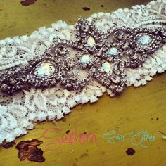 Vintage Inspired Rhinestone Wedding garter / by SouthernEverAfter, $32.99