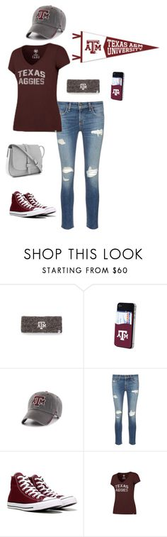 """Gameday Style at Texas A&M"" by bncollege on Polyvore featuring rag & bone/JEAN, Converse and Gap"