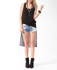 Squared High-Low Tank | FOREVER21 - 2000035886
