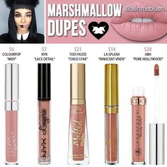 Lime crime marsh mellows dupes