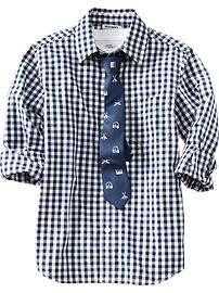 Boys Shirt & Tie Sets