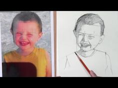 How to draw a portrait from photo step by step - Full lesson - YouTube