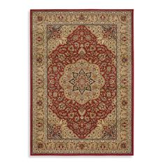 Shaw Inspired Collection Antique Manor Red Rugs - Bed Bath & Beyond
