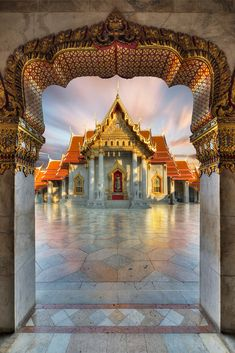 Entering Siam by Alexander Riek The beautiful Marble Temple (Wat Benchamabophit) in Bangkok.Feel free to Temple Architecture, Religious Architecture, Historical Architecture, Bangkok Thailand, Thailand Travel, Asia Travel, Travel List, Beautiful Places To Travel, Wonderful Places