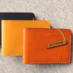 BiFold Hand Stitched Slim Wallet by bRainbowshop on Etsy, $95.00