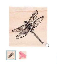 Dragonfly 02 Rubber Stamp