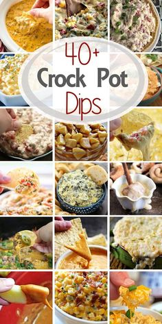 Check out these 40 Delicious Dip Recipes Made in the Slow Cooker! The Perfect Appetizers for Your Holiday Parties! via Check out these 40 Delicious Dip Recipes Made in the Slow Cooker! The Perfect Appetizers for Your Holiday Parties! Slow Cooker Dips, Slow Cooker Recipes, Cooking Recipes, Crockpot Meals, Crockpot Recipes For Parties, Superbowl Crockpot Recipes, Easy Dip Recipes, Potluck Recipes, Detox Recipes