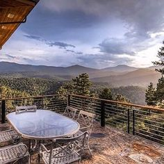 Yep I could definitely live with this incredible view! Can you picture yourself enjoying dinner a drink and great conversation with friends and family here?  Contact me for more information on this luxury home in Evergreen CO.  Randy Fuhs Keller Williams Realtor 720-469-8850  #dreamhome #milliondollarview #evergreenco #luxuryhome #coloradoliving #coloradorealestate  Photo repost via @zillow