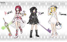 Kairi Xion and Namine Kairi Kingdom Hearts, Character Design, Hearts Girl, Heart Images, Kingdom Hearts Collection, Anime, Space Rock, Fan Art, Magical Girl