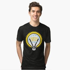 light bulb t shirt Light Bulb, Mens Tops, T Shirt, Ideas, Style, Fashion, Supreme T Shirt, Swag, Moda