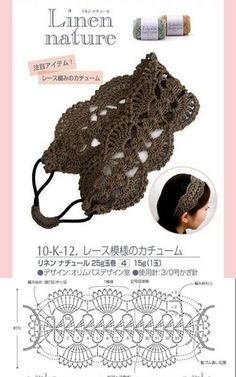 Crochet Lace Headband Pattern New Ideas Bandeau Crochet, Crochet Headband Pattern, Crochet Diy, Crochet Gifts, Crochet Headbands, Ravelry Crochet, Snood Pattern, Crochet Diagram, Crochet Chart