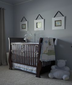 baby boy nursery love the artwork made from scrapbook paper