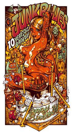 A melhor palavra para definir o trabalho do artista japonês Rockin´Jelly Bean é: exagero. Muita mulher, muita cor e muita bagunça nas suas composições. As mulheres são o elemento central da obra do artista. Quando faz aparições públicas, ostentando máscaras de luta livre mexicana, há sempre uma menina ou dUAS ao seu lado. Rockin´Jelly Bean (...)