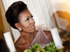 Michelle Obama's Oscars Red Carpet Worthy Glamorous Look At Governors' Dinner
