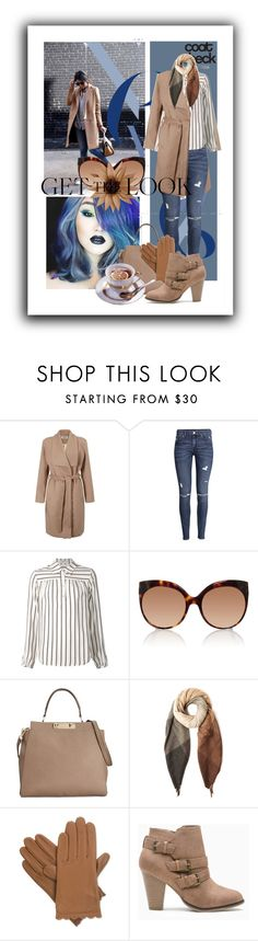 """""""Cool Coat"""" by kari-c ❤ liked on Polyvore featuring Lipsy, H&M, Frame Denim, Linda Farrow, Calvin Klein, Paul Smith, Isotoner and coolcoat"""
