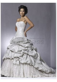 Splendid Simple Beach Strapless Wedding Dresses 2012