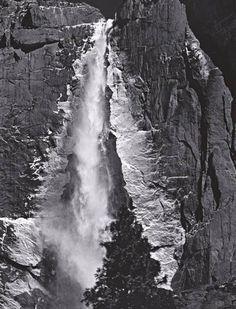 Upper Yosemite Fall, Yosemite Valley, circa 1960 photograph by Ansel Adams. © Ansel Adams Publishing Rights Trust