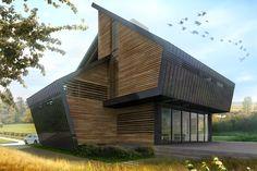 Индивидуальный загородный дом. Учебный проект  2014 года