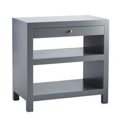 """Lacquer Side Table 29.5""""w x 17""""d x 29.5""""h This grey could potentially work...would want them to send a sample chip or color reference to make sure!  I really like the clean lines."""