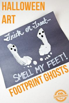 {Halloween Crafts} Make A Ghost with Footprints