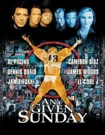 Any Given Sunday is a really good football movie. It's story is about a driven coach (Al Pacino, has he been any bad movie?) and a veteran quarterback (Dennis Quaid) who goes down with an injury. The backup quarterback is a flashy Jamie Foxx, who plays his role to a tee. I thought the character development was very well done and dialog was sharp. However, I thought the storyline was too similar to other football movies. Otherwise, worth seeing this one.