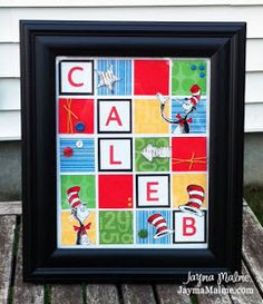 Seuss Cat In The Hat Theme Personalized Decor By Jayma Malme Eclectic Kids