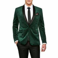 Mens Green Blazer, Mens Tuxedo Jacket, Tuxedo For Men, Blazer Jacket, Jacket Men, Tuxedo Jackets, Suit Jackets, Green Velvet Jacket, Velvet Smoking Jacket