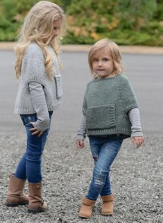 Odila Cape Pullover Knitting pattern by The Velvet Acorn Baby Knitting Patterns, Knitting For Kids, Knitting Projects, Crochet Patterns, Crochet Baby, Knit Crochet, Velvet Acorn, Baby Sweaters, Girl Fashion