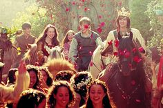 There will be flowers, and horses, and a parade, and everyone will be loving each other! Feel the happiness in Narnia! lol