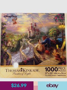 "Thomas Kincade Disney The Seven Dwarves 10/"" x 8/"" Sealed With Certificate COA"