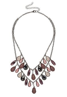 Purple Briolette Layered Necklace available at #Maurices