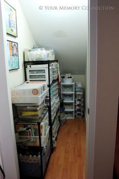 how to organize an under the stairs closet - Google Search - I need to do this to ours but it is not as tall as this one so it will be more of a challenge.