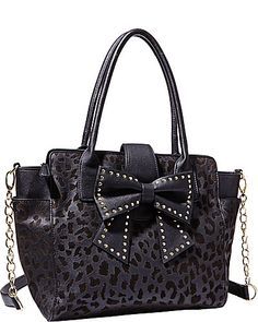 SINCERELY YOURS BOW TOTE LEOPARD - Not sure if I prefer the leopard or the all red.  Choices, choices!