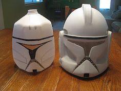 DIY Clone Trooper Helmet from milk jugs.